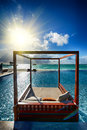 Maldives infinity pool Royalty Free Stock Photo