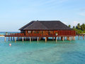 Maldives paradise architecture at picture taken during the sunny day Royalty Free Stock Images