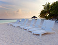 Maldives praia arenosa de maldives Imagens de Stock Royalty Free