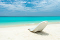 Maldivian beach paradise sunbed at the Stock Images