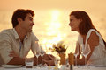 Maldivian romantic dinner Royalty Free Stock Image