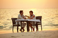 Maldivian romantic dinner Royalty Free Stock Photos