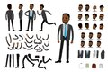 Male african american  businessman constructor Royalty Free Stock Photo