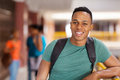Male african american college student handsome Stock Images