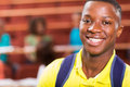 Male african university student close up portrait of Royalty Free Stock Image