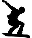 Male athlete snowboarder