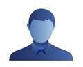 Male avatar icon blue illustration Stock Images