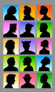 Male Avatar Silhouettes Royalty Free Stock Image
