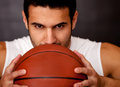 Male basketball player Royalty Free Stock Photo