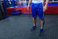 Male boxer legs Royalty Free Stock Photo