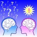 Male brain vs female brain Royalty Free Stock Photos