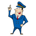 Male cartoon police officer Stock Photos