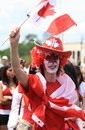Male Celebrating Canada Day Royalty Free Stock Image