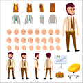 Male Character Constructor Isolated Illustration