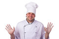 Male chef holding a pizza box Royalty Free Stock Photos