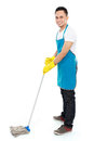 Male cleaning service Stock Photo