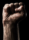 Male clenched fist Royalty Free Stock Photo