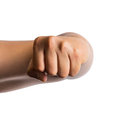 Male clenched fist isolated on white background Royalty Free Stock Image