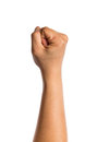 Male clenched fist isolated on white background Royalty Free Stock Photos