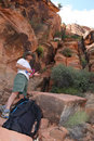 Male climber in Zion Park Stock Photos