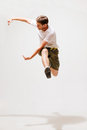 Male dancer jumping in the air sport and dancing concept Stock Photography