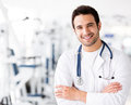 Male doctor at the gym Royalty Free Stock Photo