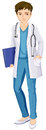 A male doctor illustration of on white background Royalty Free Stock Image