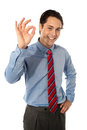 Male executive gesturing great ok sign Royalty Free Stock Images