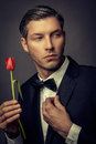 Male fashion model for valentine Stock Image