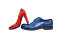 Male&female鞋子1 库存照片