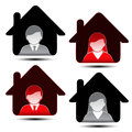 Male female avatar icons user member illustration Royalty Free Stock Photo