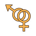 Male and female couple sex symbol Royalty Free Stock Photo