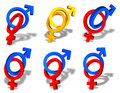 Male and female couple symbols Royalty Free Stock Image