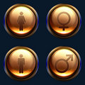 Male female gender icon pack Royalty Free Stock Images