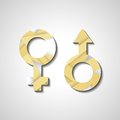 Male and female gender symbols style illustration Royalty Free Stock Images