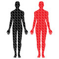 Male and female puzzle bodies Royalty Free Stock Photo