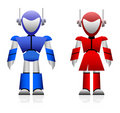 Male and Female Robot Royalty Free Stock Image