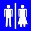 Male and female sign icon Royalty Free Stock Images