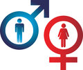 Male female signs vector illustration of the and Stock Photo