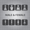 Male and female signs vector set of Stock Photography