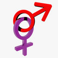 Male / Female Symbol Royalty Free Stock Photo