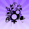 Male female symbols Royalty Free Stock Image