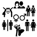 Male and female symbols with isolated background Royalty Free Stock Photography