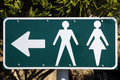 Male and female toilet directions sign Royalty Free Stock Image