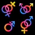 Male, Female and Transgender Gender Symbols Stock Images