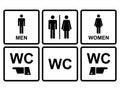 Samec a žena ikona záchod  toaleta