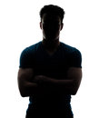 Male figure in silhouette looking at the camera Royalty Free Stock Photo