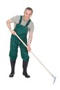 Male gardner with gardening tool? Royalty Free Stock Photo