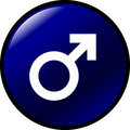 Male gender symbol vector button Stock Photos