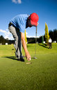 Male golfer Royalty Free Stock Photo